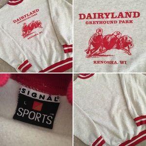 Vintage Dairyland Greyhound Park Sweatshirt